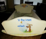 A Sweet Bunny Who Totally Rocks! – a doll cradle (re)Done!